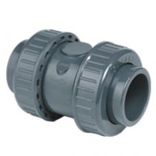 Обратный клапан с муфтовыми окончаниями, пружиной из нержавеющей стали, уплотнение FPM