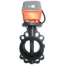 """Дисковый поворотный затвор с электроприводом (24-240 V),  ProFlow серия """"Р"""", уплотнение EPDM, 220V J+J"""